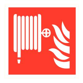 Signalisatie brandhaspel PP 20x20cm