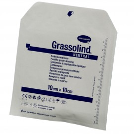 Tulle gras 10x10cm s/s (10)